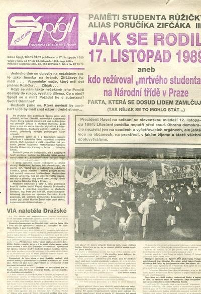 Noviny z roku 1989 a 1990