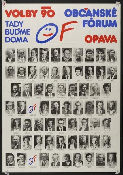 Plakát Občanské forum Opava