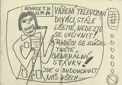 Letáky vztahující se k revoluci 1989