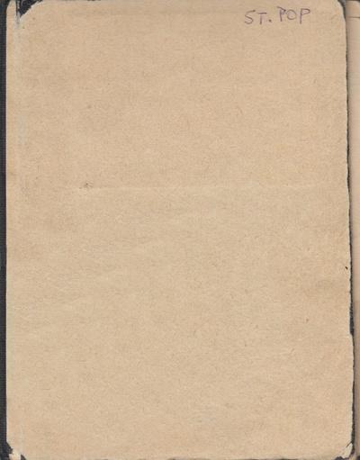 Sešity básní Stanislava Popa