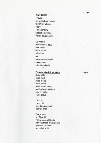 Stanislav Pop- sbírka básní Prostomyšlení
