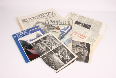 Noviny z revoluce roku 1989