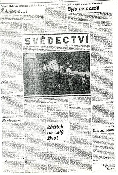 Černý pátek 17. listopadu 1989 v Praze