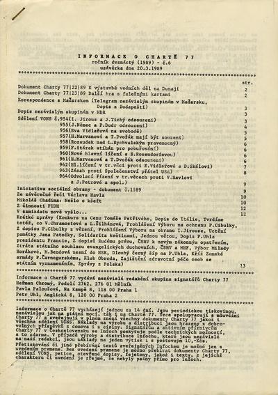 Informace o Chartě 77