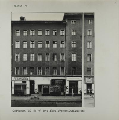 Fotografie: Oranienstr. 30, um 1981