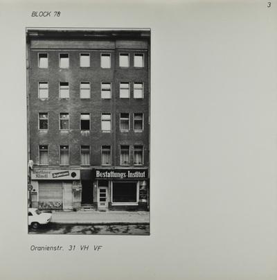Fotografie: Oranienstr. 31, um 1981