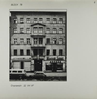 Fotografie: Oranienstr. 32, um 1981