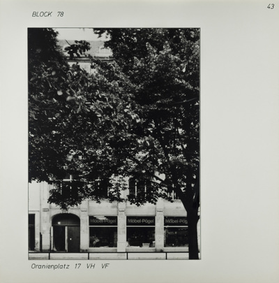 Fotografie: Oranienplatz 17, um 1981