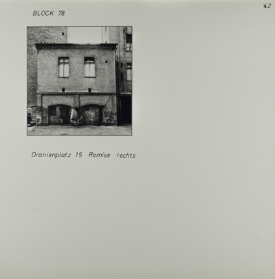 Fotografie: Oranienplatz 15, um 1981