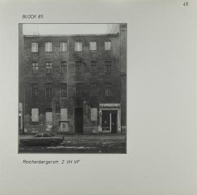 Fotografie: Reichenberger Str. 2, um 1981