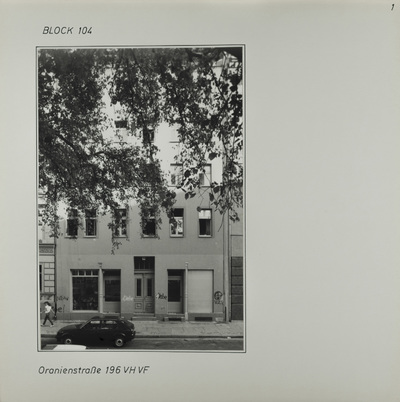 Fotografie: Oranienstr. 196
