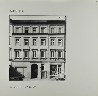 Fotografie: Oranienstr. 199