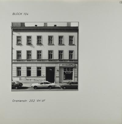 Fotografie: Oranienstr. 202