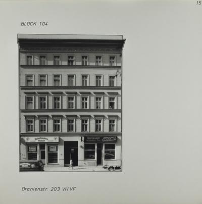Fotografie: Oranienstr. 203, 1983