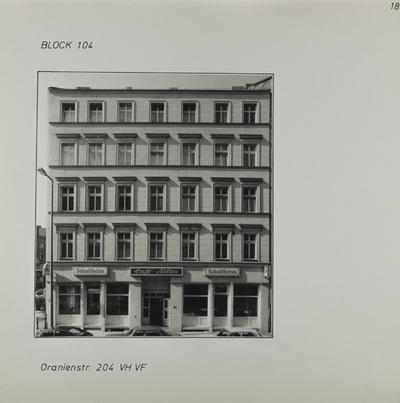 Fotografie: Oranienstr. 204, 1983