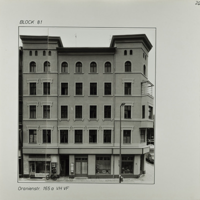 Fotografie: Oranienstr. 165a, August 1984