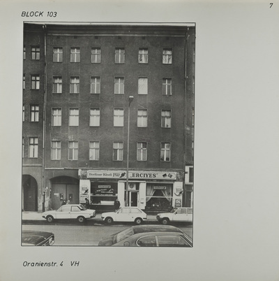 Fotografie: Oranienstr. 4, 1983