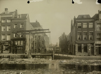 Het Boerenverlaat gezien vanaf de Delftsevaart voor de herstelwerkzaamheden, 1924