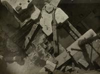 De verankering van de halsbeugel van de zuidoostelijke sluisdeur van het Boerenverlaat tijdens de..., 6 juni 1924