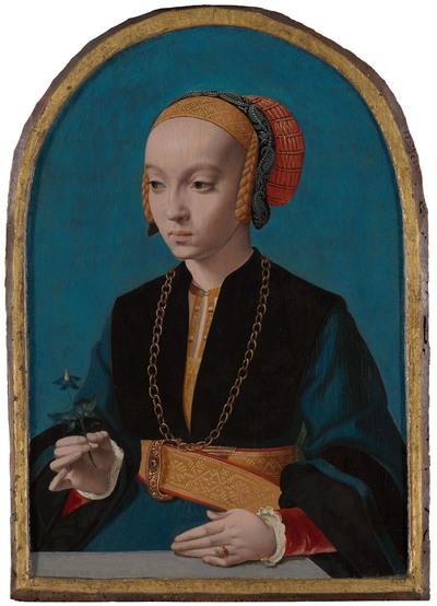 Portret van Elisabeth Bellinghausen (c.1520- na 1570)