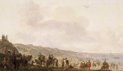 Het vertrek van Karel II (1630-1685) uit Scheveningen, 2 juni 1660