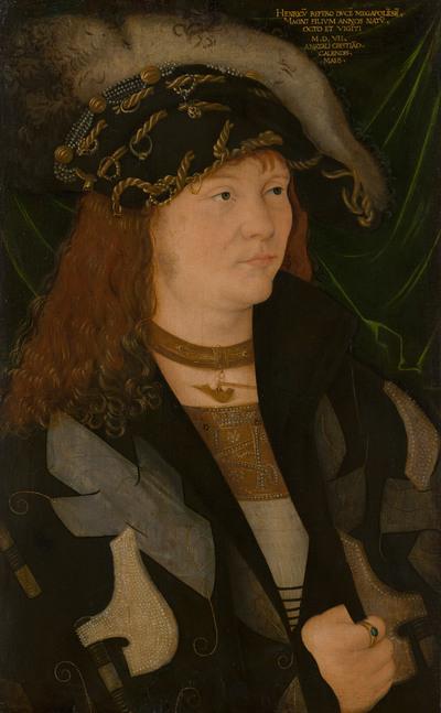 Portret van Hendrik V (1479-1552), hertog van Mecklenburg