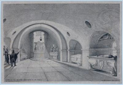 Tombs of the Grand Masters in the vault of St. John Church, Valletta
