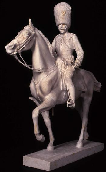 Equestrian statue of H.M. King George V scale model for a monument(1936)