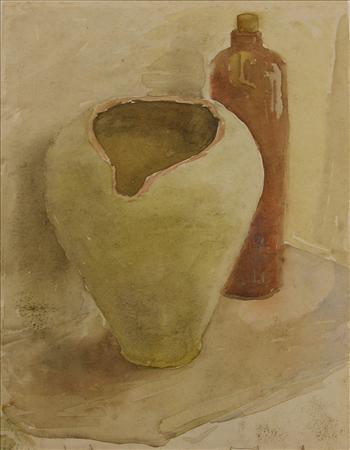 Still Life with broken amphora