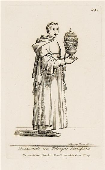 Bussalante con Triregno Pontificale