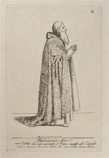Patriarca Siro con abito che usa quando il Papa assiste alle Capelle