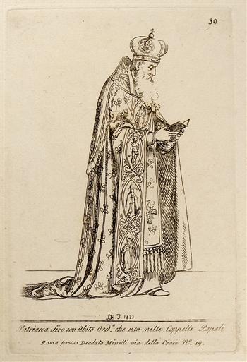 Patriarca Siro con Abito Ordine che Usa Nelle Capelle Papali