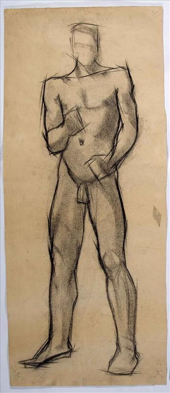 Standing male nude (front)