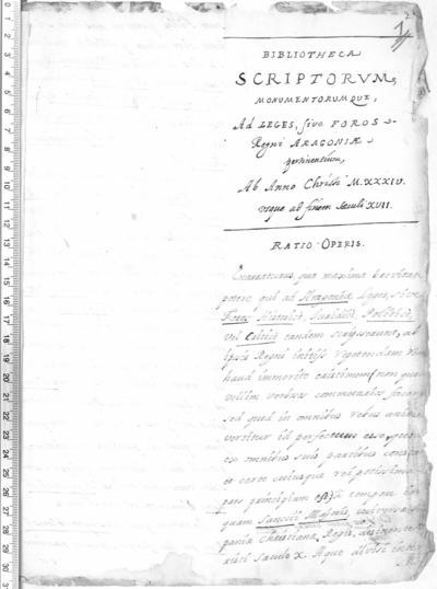 Bibliotheca Scriptorum Monumentorumque ad Leges sive Foros Regni Aragoniae pertinentium: ab anno M.XXX.IV usque ad finem saeculi XVII