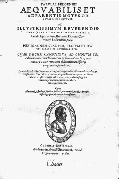 Tabulae bergenses aequabilis et adparentis motus orbium coelestium ...