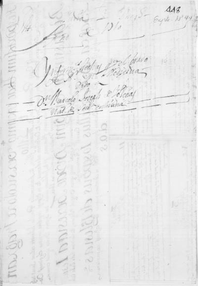 Expediente de Pruebas de Legitimidad y Limpieza de Sangre de Marcelo Joseph de Yglesias, para la obtención del Grado de Bachiller en Medicina.