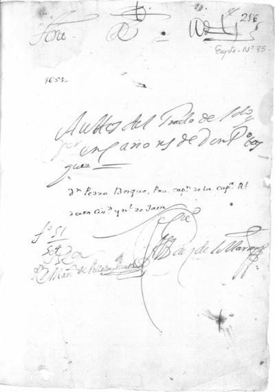 Expediente de Pruebas de Legitimidad y Limpieza de Sangre de Pedro Bosque, para la obtención de los Grados de Licenciado y Doctor en Cánones.