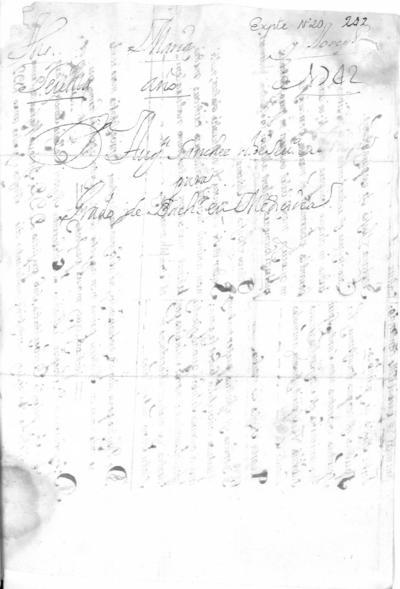Expediente de Pruebas de Legitimidad y Limpieza de Sangre de Agustín Sánchez, para la obtención del Grado de Bachiller en Medicina.