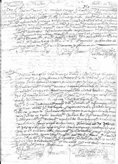 Expediente de Pruebas de Legitimidad y Limpieza de Sangre de Juan de Obregón, para la obtención del Grado de Bachiller en Medicina.