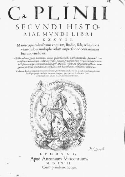 C. Plinii Secundi Historiae Mundi libri XXXVII
