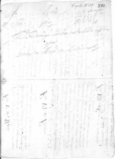 Expediente de Pruebas de Legitimidad y Limpieza de Sangre de Domingo Sánchez, para la obtención del Grado de Bachiller en Medicina.