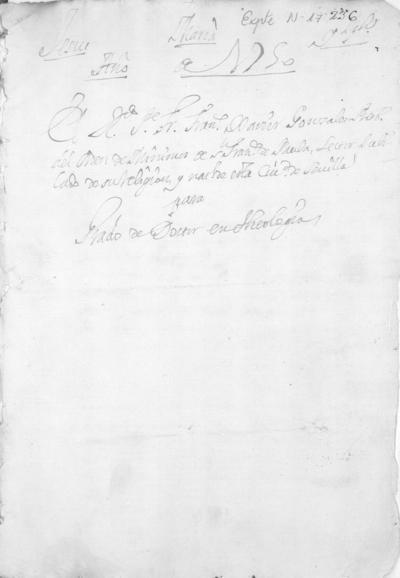 Expediente de Pruebas de Legitimidad y Limpieza de Sangre de Francisco Xavier González, para la obtención del Grado de Doctor en Teología.