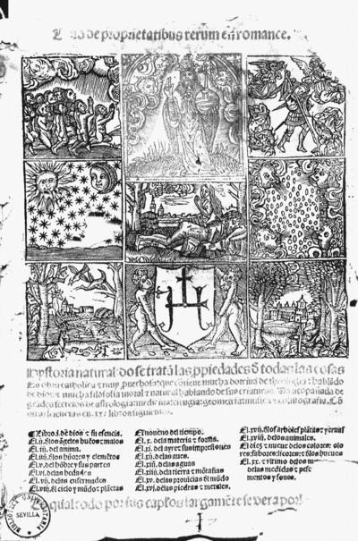 Libro de proprietatibus rerum en romance