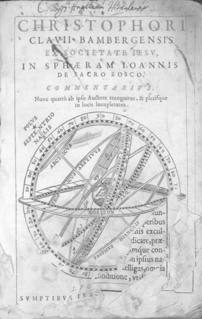 Christophori Clavii ... In sphaeram Ioannis de Sacro Bosco commentarius ...