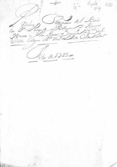 Expediente de Pruebas de Legitimidad y Limpieza de Sangre de Felipe Belluga Moncada, para la obtención de una beca jurista de entrada en el Colegio de Santa María de Jesús.