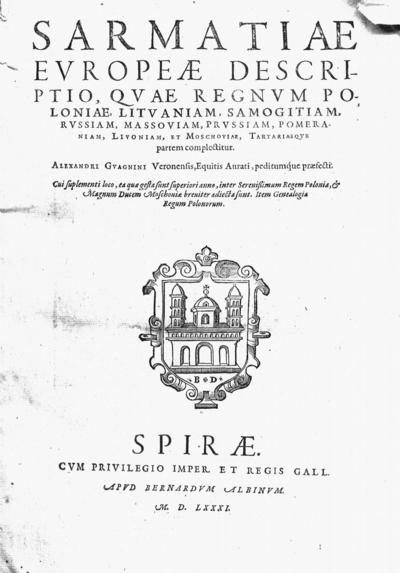 Sarmatiae Europeae descriptio