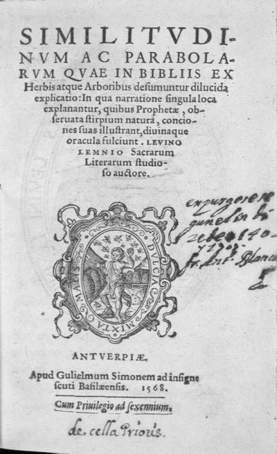 Similitudinum ac parabolarum quae in Bibliis ex herbis atque arboribus desumuntur dilucida explicatio
