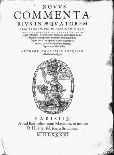 Nouus commentarius in aequatorem planetarum...