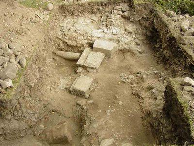 Ruinele castrului roman de la Mehadia - La Zidine