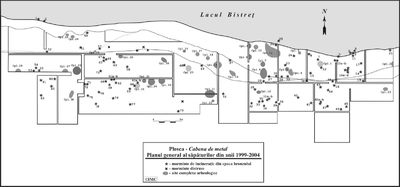 Situl arheologic de la Plosca - Cabana de metal 1-2